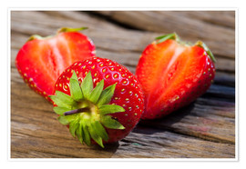 Premium poster Ripe strawberries