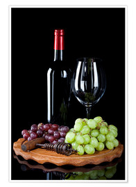 Premium poster Wine and Grapes II