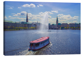 Canvas print  Alsterdampfer on the Inner Alster Hamburg - Dennis Stracke