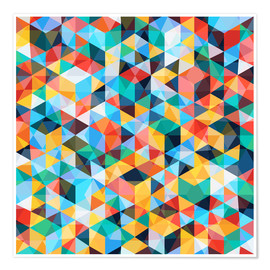 Premium poster Abstract Mosaic Pattern