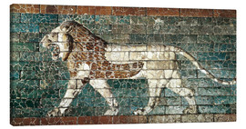 Canvas print  Lion mosaic at the temple of Babylon