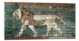 Foam board print  Lion mosaic at the temple of Babylon