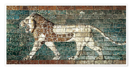Premium poster  Lion mosaic at the temple of Babylon