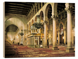 Wood print  The Umayyad Mosque in Damascus
