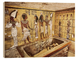 Wood print  Grave of Tutankhamun in the Valley of the Kings