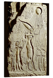 Aluminium print  Pharaoh Akhenaten pays homage to the sun god Aten