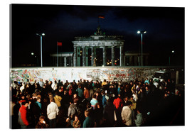 Acrylic print  Fall of the Berlin Wall