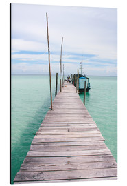 Aluminium print  Wooden jetty on tropical exotic island - Alejandro Moreno de Carlos