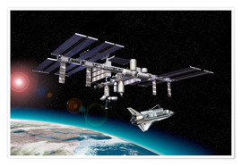 Premium poster  Space Station in Earth orbit - Leonello Calvetti