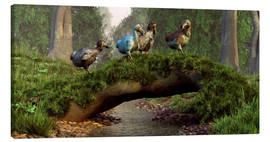 Canvas print  Dodos cross a stream - Daniel Eskridge