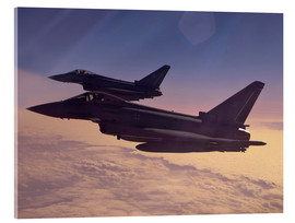 Acrylic glass  German Eurofighter Typhoons - Timm Ziegenthaler