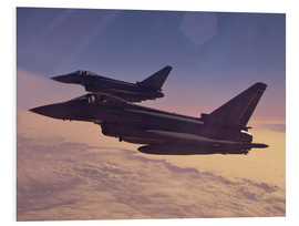 Foam board print  German Eurofighter Typhoons - Timm Ziegenthaler