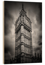 Wood print  Big Ben London - Melanie Viola