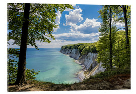 Acrylic glass  Chalk cliff on the island Ruegen, Germany - Rico Ködder