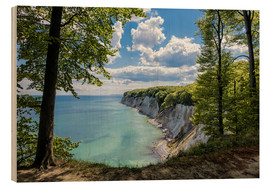 Wood print  Chalk cliff on the island Ruegen, Germany - Rico Ködder