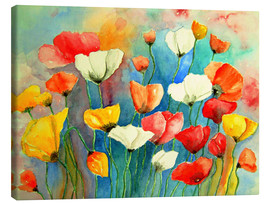 Canvas print  Colorful poppies - siegfried2838