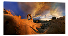 Acrylic print  Delicate Arch sundset - Michael Rucker