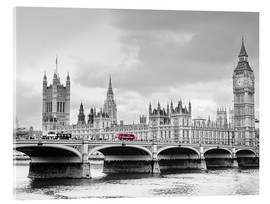 Acrylic print  Westminster bridge with look at Big Ben and House of parliament - Edith Albuschat