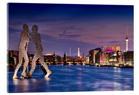 Acrylic glass  Skyline Berlin - Molecule Man - Marcus Klepper