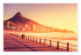 Premium poster  Sunset, Cape Town, South Africa - Stefan Becker