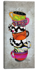 Canvas  Stacked Hot Cuppa Collection 1 - Megan Duncanson