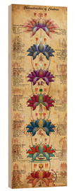 Wood print  Characterstics of Chakras Yoga Poster - Sharma Satyakam