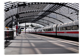 Acrylic print  White train at Berlin Central Station - CAPTAIN SILVA