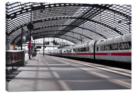 Canvas print  White train at Berlin Central Station - CAPTAIN SILVA