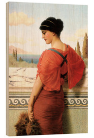 Wood print  Phyleis - John William Godward