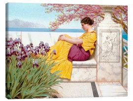 Canvas print  Under The Blossom That Hangs On The Bough - John William Godward