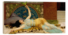 Wood print  The sweet idleness (Dolce Far Niente) - John William Godward
