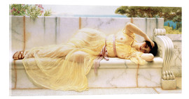 Acrylic print  Girl in yellow dress - John William Godward