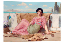 Acrylic glass  A Quiet Pet - John William Godward
