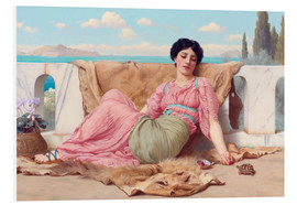 Foam board print  A Quiet Pet - John William Godward