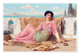 Premium poster  A Quiet Pet - John William Godward