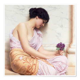 Premium poster  Violets, sweet violets - John William Godward