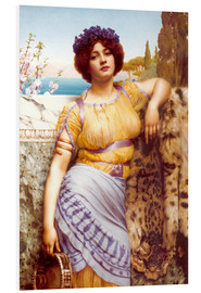 Foam board print  Ionian Dancing Girl - John William Godward