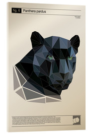 Acrylic glass  fig6 Polygonpanther Poster - Labelizer