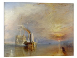 Foam board print  The fighting Temeraire - Joseph Mallord William Turner