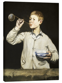 Canvas print  Boy blowing bubbles - Edouard Manet