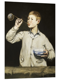 Foam board print  Boy blowing bubbles - Edouard Manet