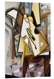 Foam board print  Guitar on a Chair - Juan Gris