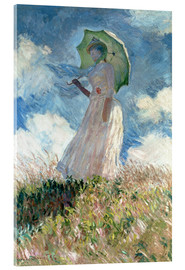 Acrylic print  Woman with parasol turned to the left - Claude Monet