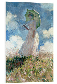Claude Monet - Woman with parasol turned to the left