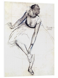 Foam board print  Dancer adjusting her shoe - Edgar Degas