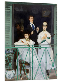 Foam board print  The Balcony - Edouard Manet