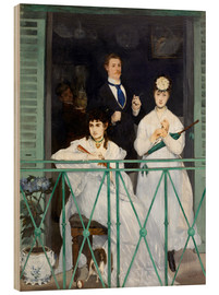 Wood print  The Balcony - Edouard Manet