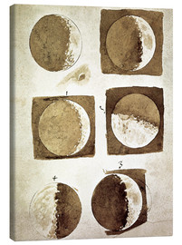 Canvas  The phases of the moon - Galileo Galilei
