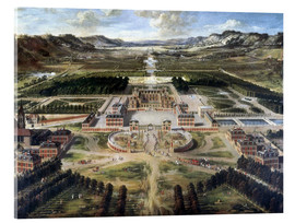 Acrylic print  Castle and gardens of Versailles - Pierre Patel
