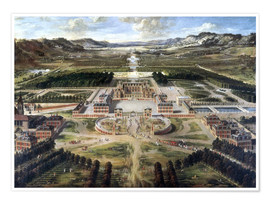 Premium poster  Castle and gardens of Versailles - Pierre Patel
